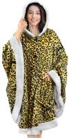 Angel Wrap Hooded Blanket - CHEETAH